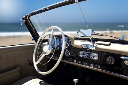 Vintage retro car interior